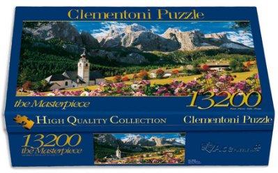 Quebra cabeças Clementoni com 13.200 peças!