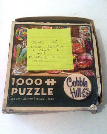 Puzzle Me - Caixa quebra-cabeça rasgada