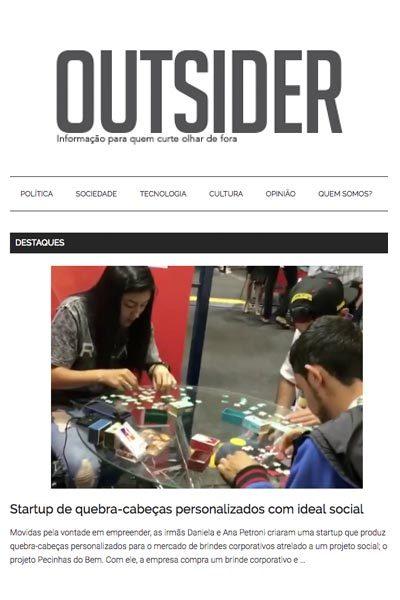 Artigo sobre a Puzzle Me no site da Revista Outsider