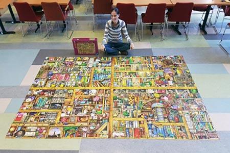 Puzzle Me - Entrevista Klodya - Foto Quebra Cabeça Magic Book Case 18.000 peças