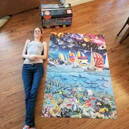 Puzzle Me - Entrevista Klodya - Foto Quebra Cabeça Life 24.000 peças
